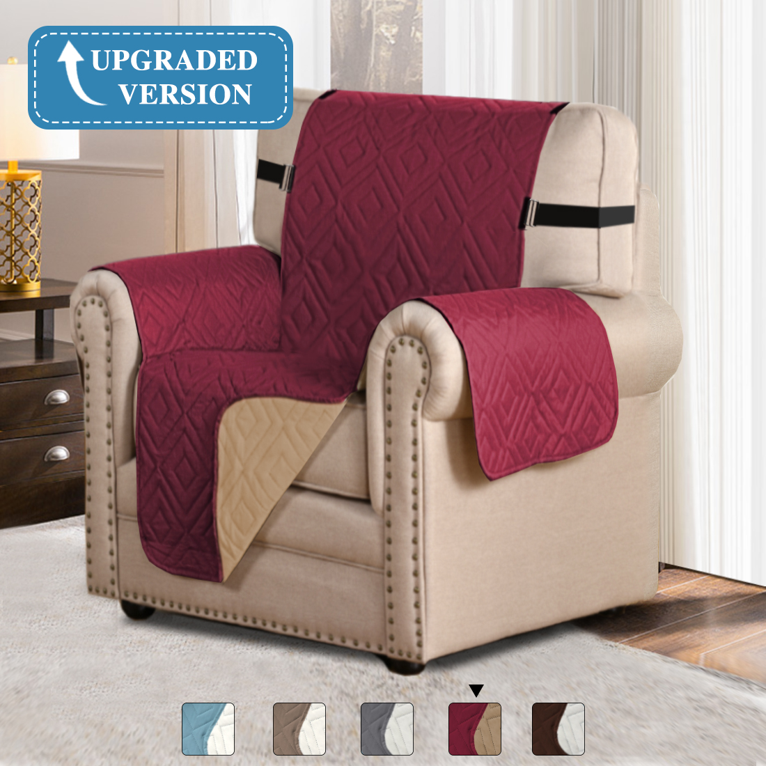 Sofa Covers Slipcovers Reversible Quilted Furniture Protector 75