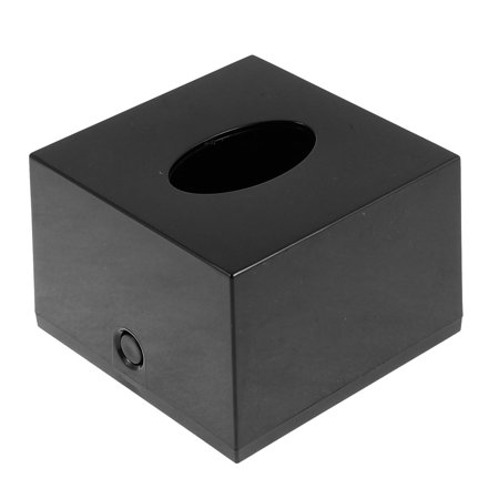 Uxcell Bar Plastic Cube Paper Tissue Box Holder Container Black for Home Essential