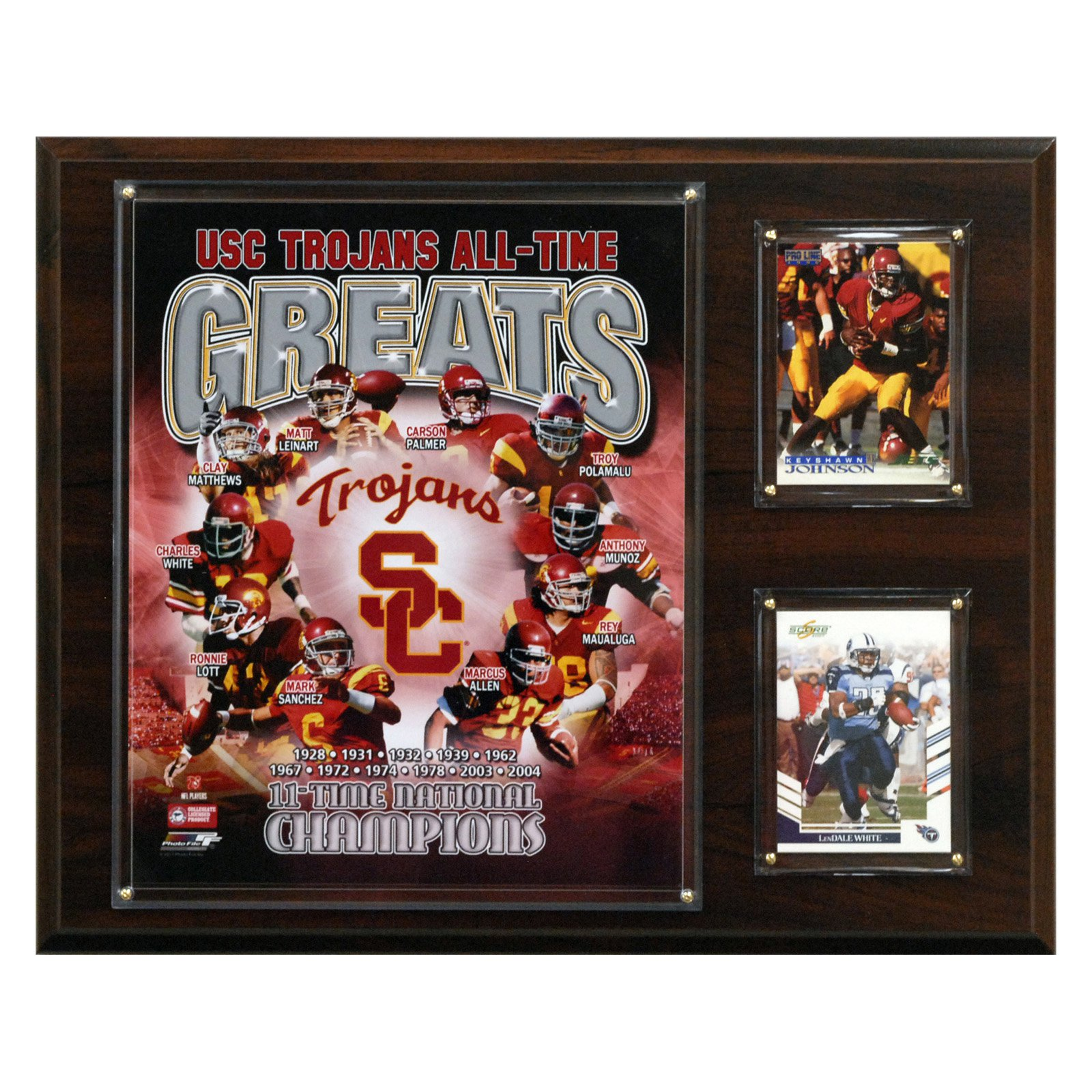 NCAA Football 12 x 15 in. USC Trojans All-Time Greats Photo Plaque