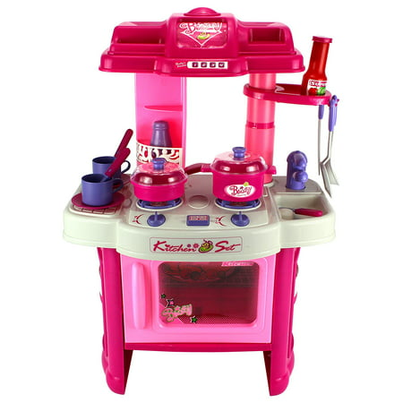 Deluxe Kitchen Appliance Children's Toy Cooking Play Set w/ Lights & Sounds, Perfect for Your Little