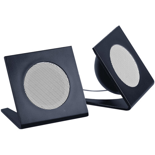Merkury Vertical Flat Speakers, Black