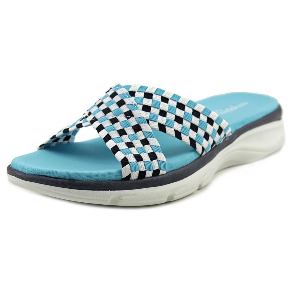 Easy Spirit e360 Pelia Open Toe Canvas Slides Sandal by Easy Spirit e360