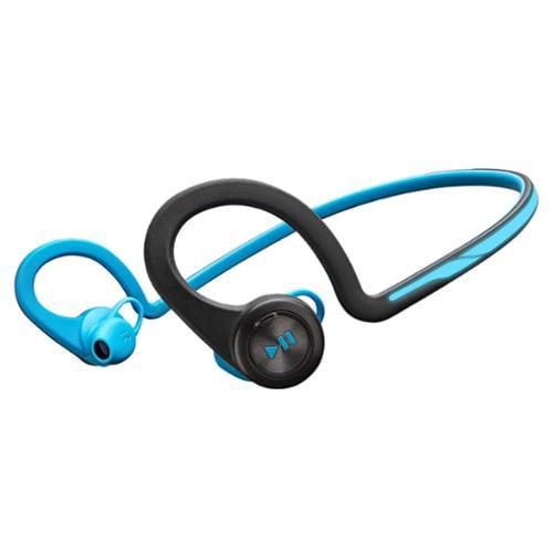 Plantronics Backbeat Fit Wireless Headphones + Mic - Stereo - Blue - Wireless - Bluetooth - 33 Ft - Earbud, Over-the-ear - In-ear (200450-01)