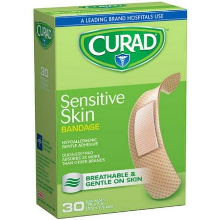 2 Pack - Curad Sensitive Skin Bandages One Size 30 (Sensitive Skin Band Aids)