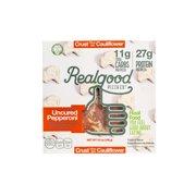 Real Good Single Serve Cauliflower Crust Pepperoni Pizza Grain-Free, Gluten-Free, 27g Protein, 11g Carbs. 5.5oz box