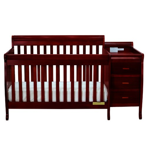 AFG Baby Furniture Kimberly 3-in-1 Convertible Crib Cherry by AFG