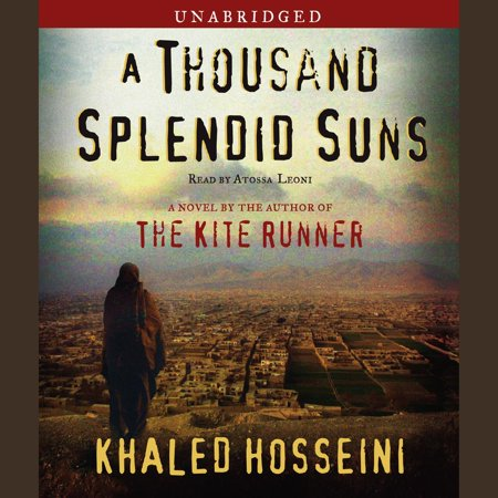 A Thousand Splendid Suns - Audiobook AFTER MORE THAN TWO YEARS ON THE BESTSELLER LISTS, KHALED HOSSEINI RETURNS WITH A BEAUTIFUL, RIVETING, AND HAUNTING NOVEL OF ENORMOUS CONTEMPORARY RELEVANCE.A Thousand Splendid Suns is a breathtaking story set against the volatile events of Afghanistan's last thirty years -- from the Soviet invasion to the reign of the Taliban to post-Taliban rebuilding -- that puts the violence, fear, hope and faith of this country in intimate, human terms. It is a tale of two generations of characters brought jarringly together by the tragic sweep of war, where personal lives -- the struggle to survive, raise a family, find happiness -- are inextricable from the history playing out around them.Propelled by the same storytelling instinct that made The Kite Runner a beloved classic, A Thousand Splendid Suns is at once a remarkable chronicle of three decades of Afghan history and a deeply moving account of family and friendship. It is a striking, heartwrenching novel of an unforgiving time, an unlikely friendship, and an indestructible love -- a stunning accomplishment.