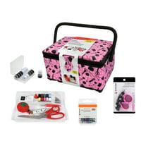 SINGER Sewing Basket Bundle, Pink, 290 Pieces