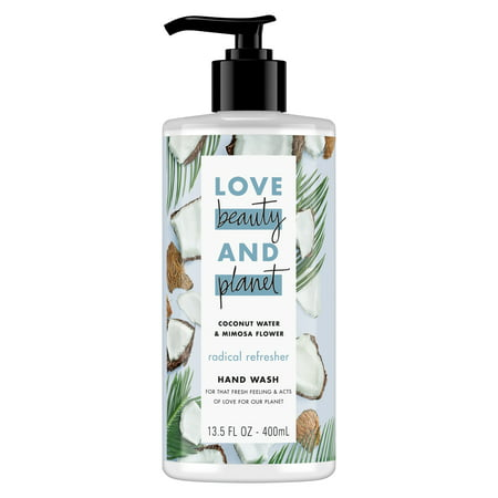 Hand Wash Coconut - Love Beauty and Planet Radical Refresher Coconut Water & Mimosa Flower Hand Wash 13.5 oz