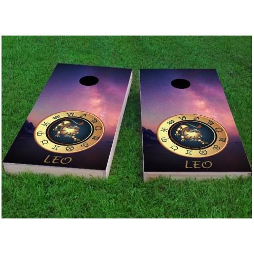 Custom Cornhole Boards Zodiac Stars Leo Themed Cornhole Game (Set of 2) by Custom Cornhole Boards