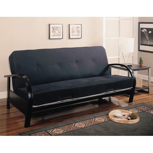 Coaster Contemporary Metal Futon Frame in Black by Coaster