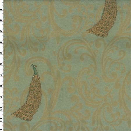 peacock fabric beige teal jacquard yard decorating walmart fabrics