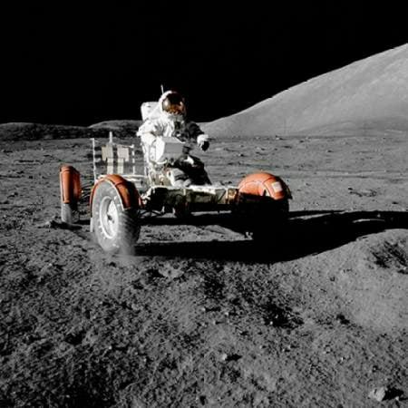 Lunar Roving Vehicle Apollo 17 1972 Canvas Art - NASA (24 x 24)