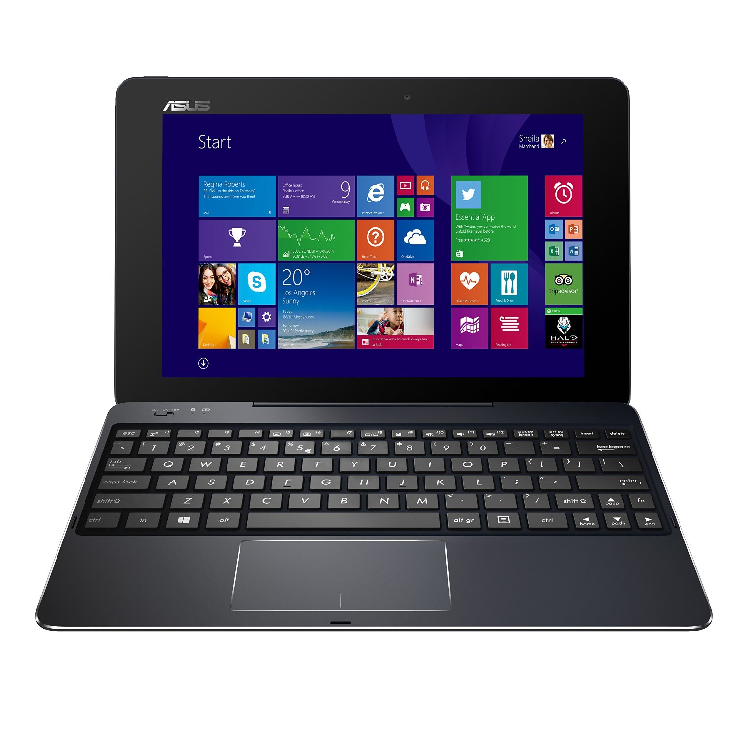 "Manufacturer Refurbished - Asus T100CHI-D4-BK 10.1"" Touch Tablet Intel Z3795 1.59GHz 4GB 128GB Windows 8.1"