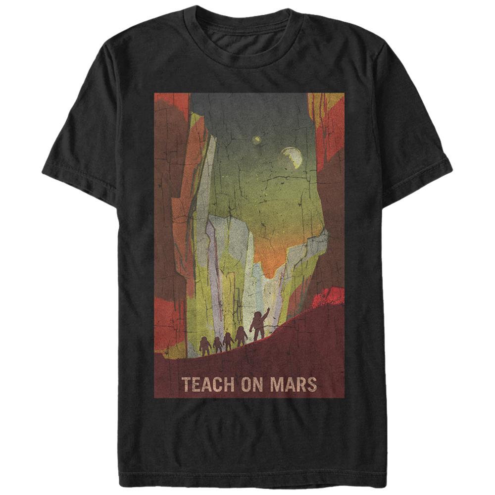 NASA Teach on Mars Mens Graphic T Shirt