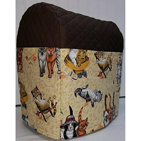 Beach Cats Kitchenaid Lift Bowl Stand Mixer Cover (Chocolate Brown) (Kitchen Aid Lift Mixer Cover)