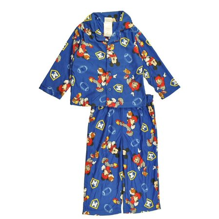 Blue Mickey Mouse (Mickey Mouse Little Boys Blue Character Print 2pc Pajama Pant)
