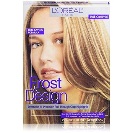 L'Oreal Paris Frost and Design Cap Hair Highlights For Long Hair, H65 Caramel, 1