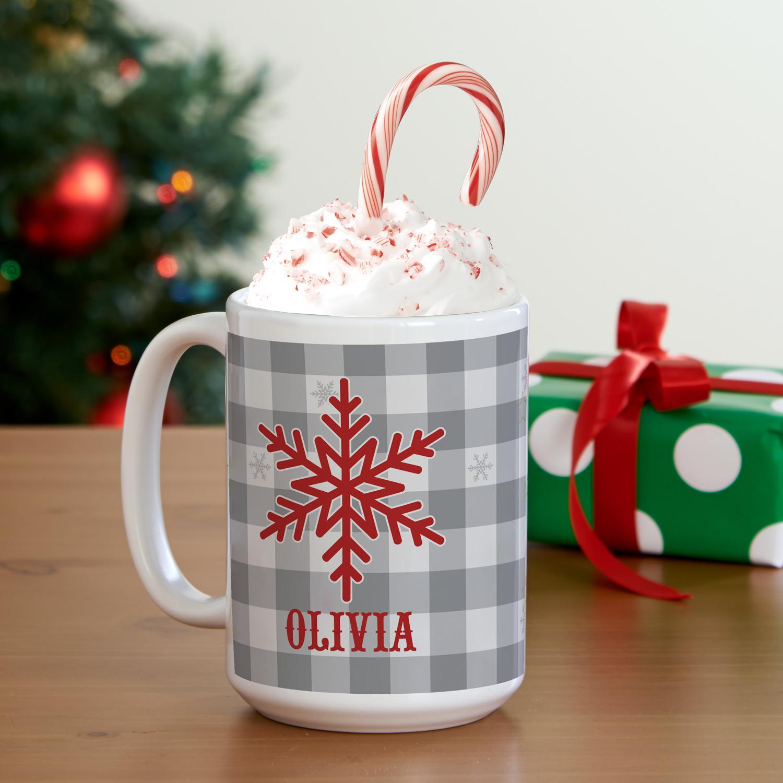 Personalized Snowflake Wishes Mug