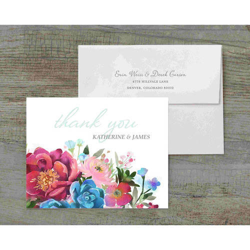 Woodland Floral Deluxe Thank You