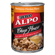 Purina ALPO Gravy Wet Dog Food; Chop House Rotisserie Chicken Flavor in Gravy - (12) 13 oz. Cans