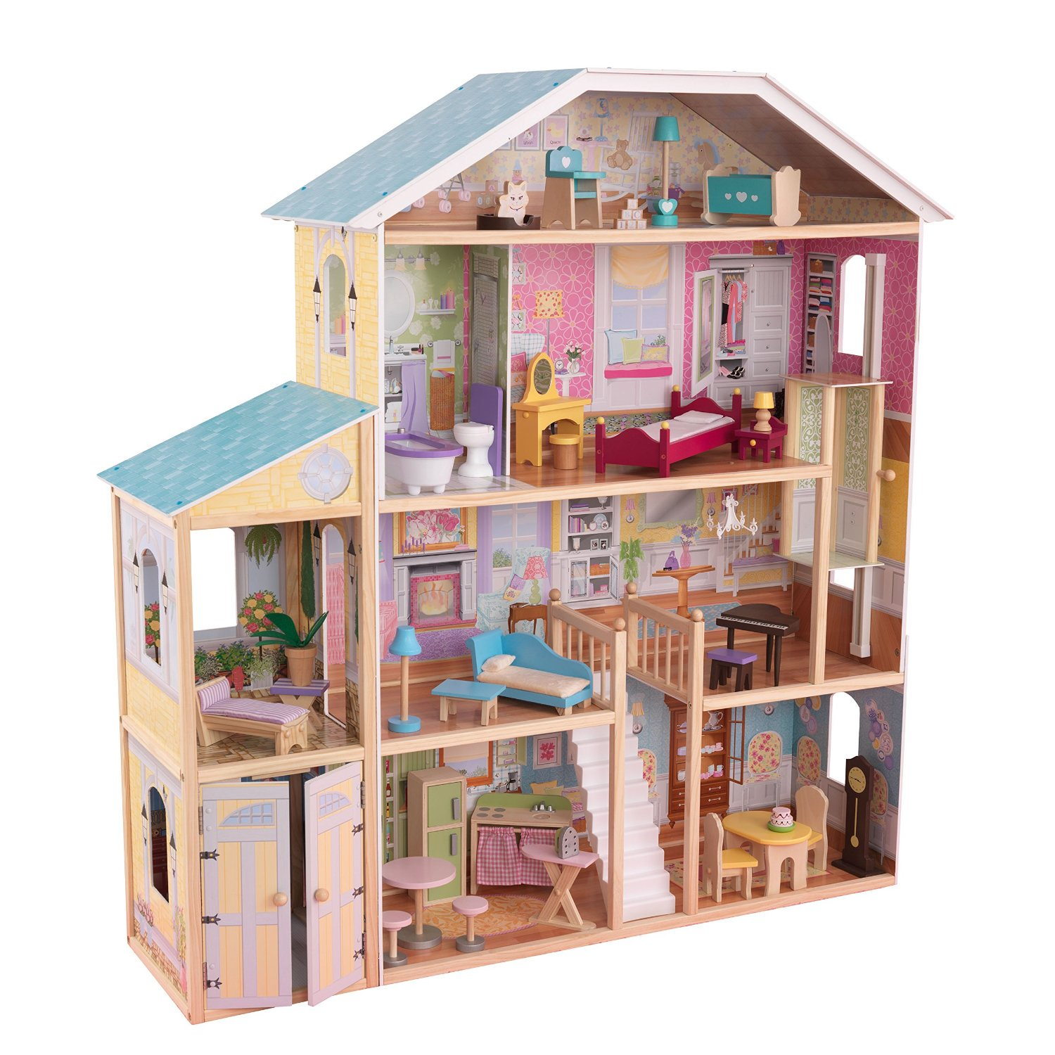 KidKraft Majestic Mansion Dollhouse With Furniture Wooden Doll House | 65252