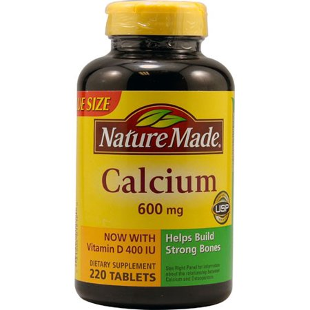 Nature Made Comprimés de 600 mg de calcium - 220 CT