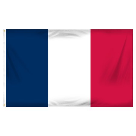 3ft x 5ft France Flag - Printed Polyester - France Country Flag