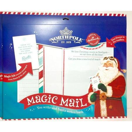 Hallmark Northpole Magic Mail Stationery Set - Magic Ink - Correspond with Santa ()