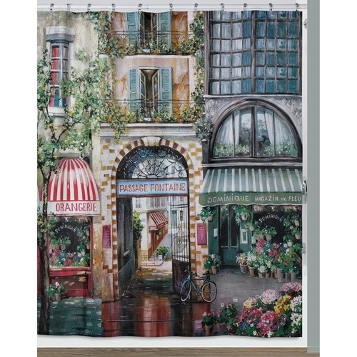 Creative Bath S1205MULT RUE DI RIVOLI SHOWER CURTAIN