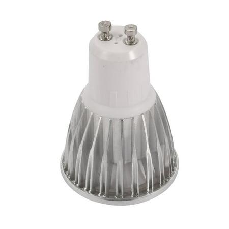 3pcs Silver 5W GU10 Base B46 COB Lamp Housing COB Light Shell w Convex Lens - image 3 de 5