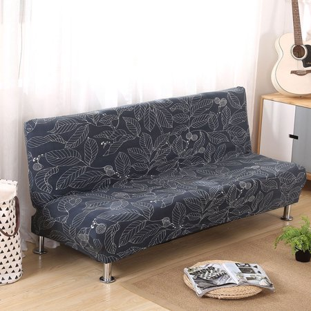 All Inclusive Stretch Armless Sofa Bed Cover Furniture Protector Elastic Couch Lounge Futon