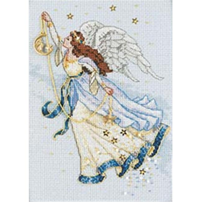 238228 Gold Collection Petite Twilight Angel Counted Cross Stitch K-5 in. x 7 in.