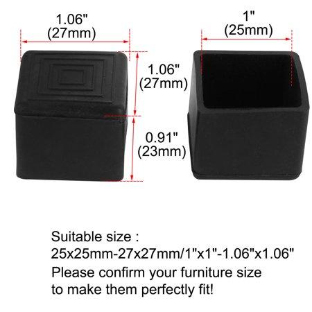 """Desk Chair Table Leg Caps End Tip Home Furniture Protector 30pcs 1""""x1"""" (25x25mm) - image 2 de 7"""