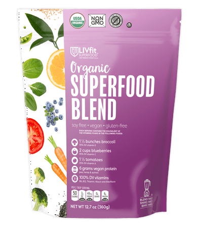 BetterBody Foods Organic LIVFit Superfood Blend Powder, 12.7 Oz