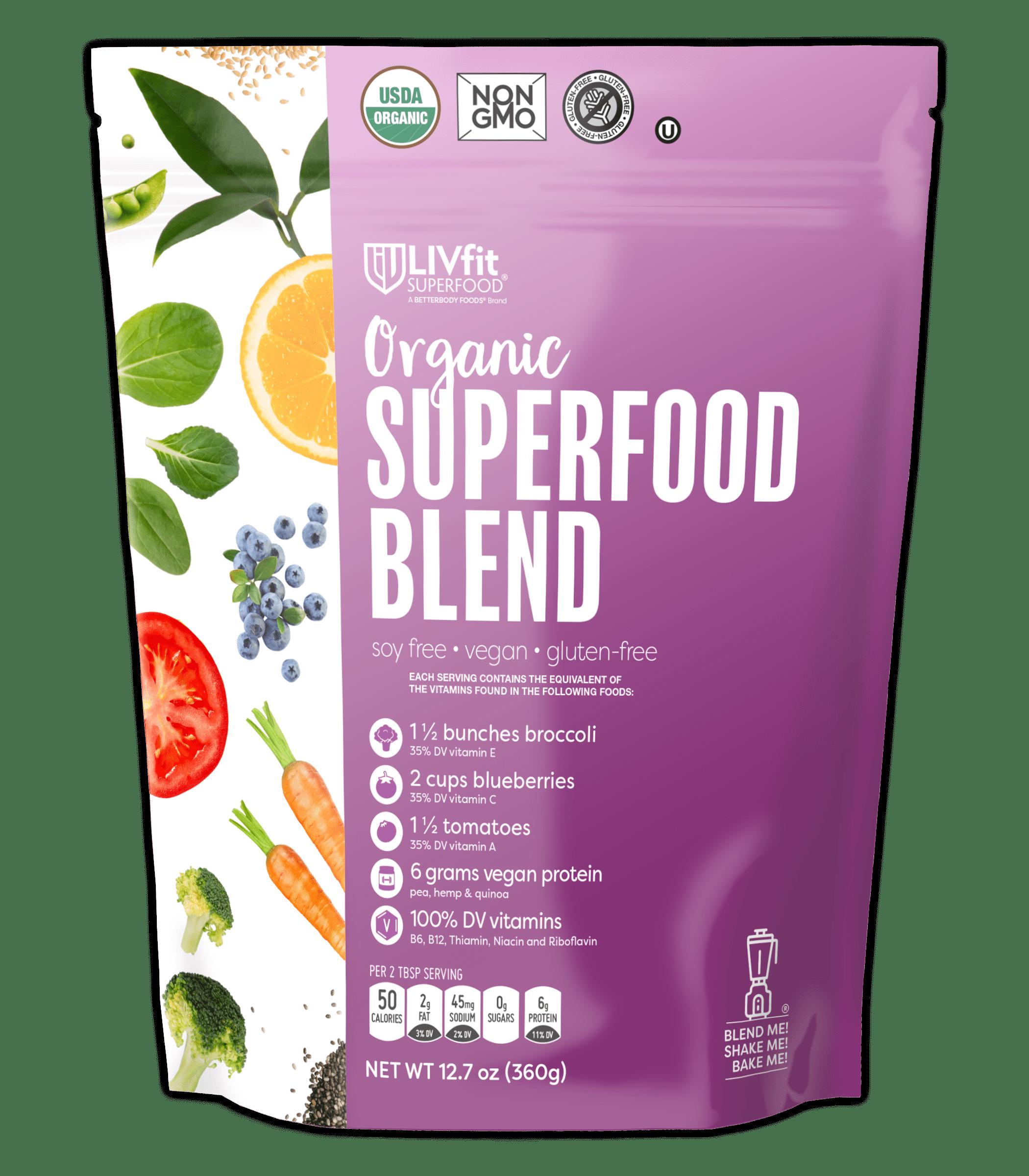 BetterBody Foods Organic LIVFit Superfood Blend Powder, 12.7 Oz