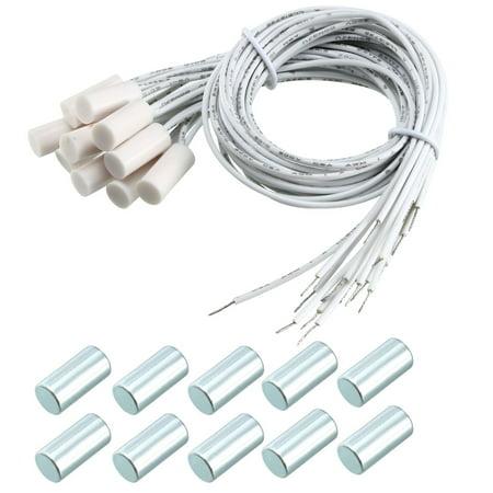 10pcs HC-34A NC cablé encastré contact porte magnétisme Alarme capteur Interrupteur - image 4 de 4