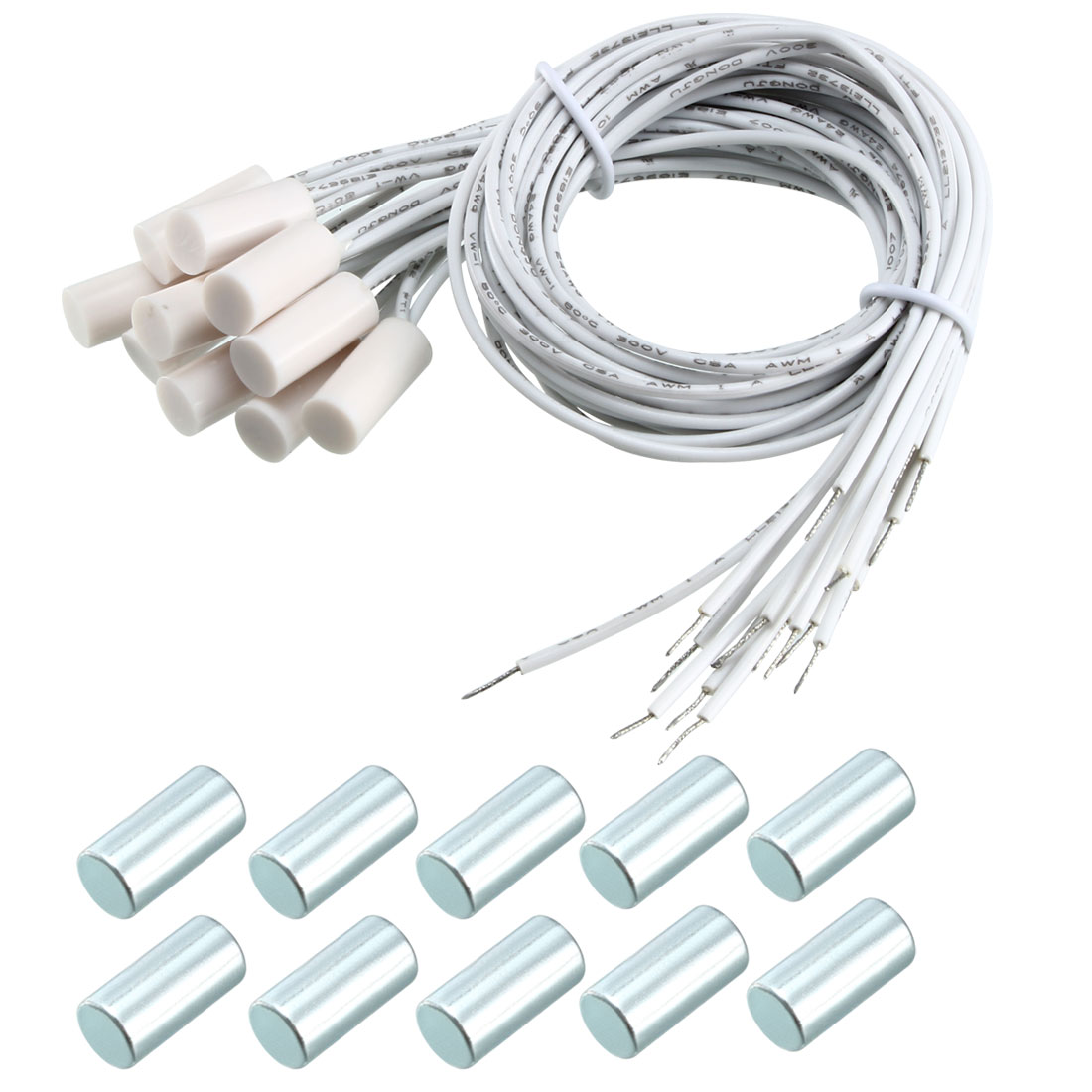 10pcs HC-34A NC Recessed Wired Gate Contact Sensor Alarm Magnetic Reed Switch