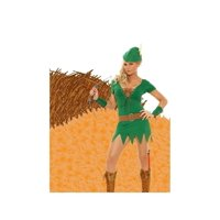 Elegant Moments EM-9682 6 PC Devious Archer Womans Costume Green/Brown / S
