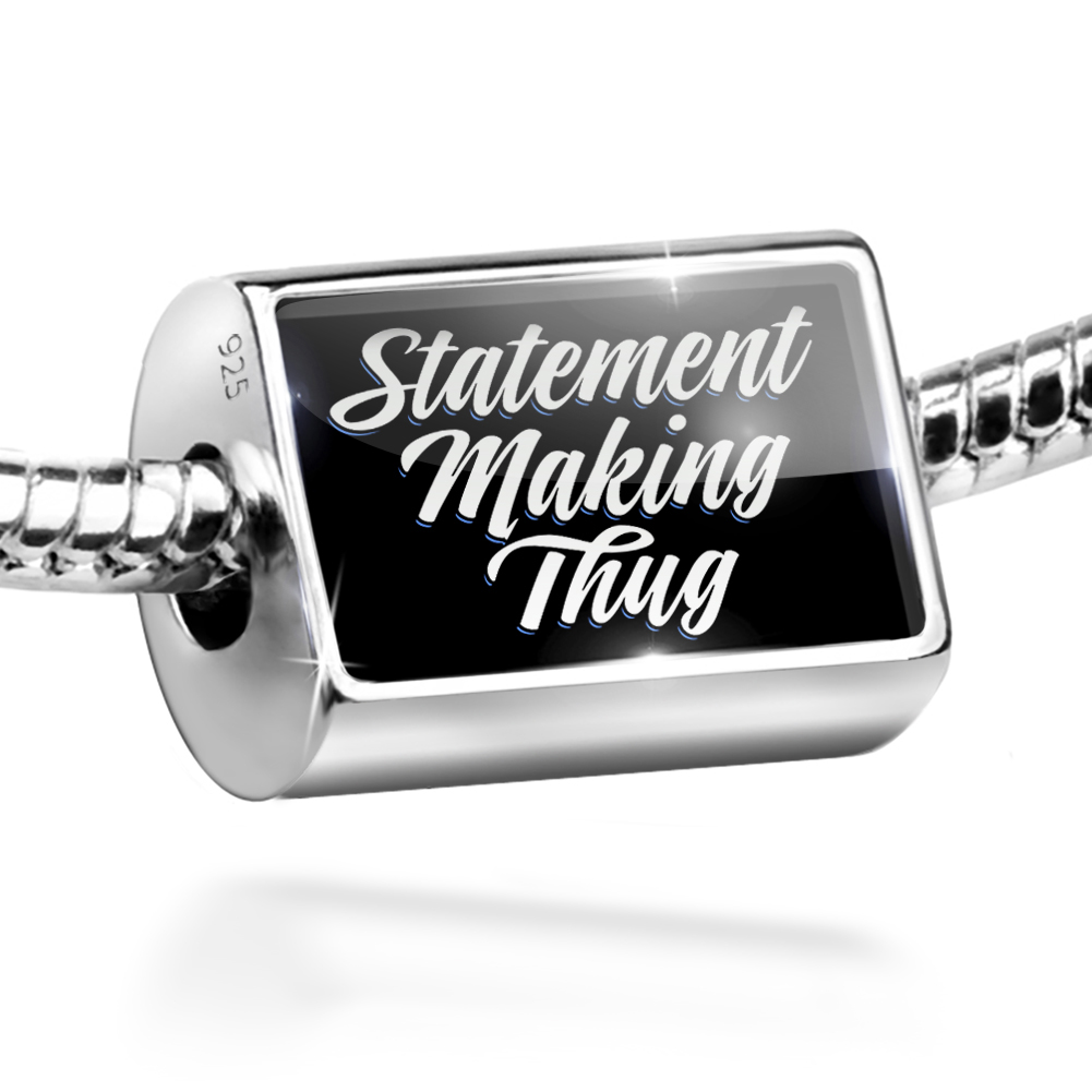 Bead Classic design Statement Making Thug Charm Fits All European Bracelets
