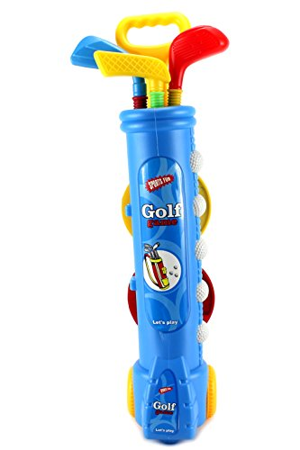 Fun Sport Children's Kid's Toy Golf Set w  4 Balls, 3 Clubs, 2 Practice Holes, 2 Flags (Colors May Vary) by... by Velocity Toys