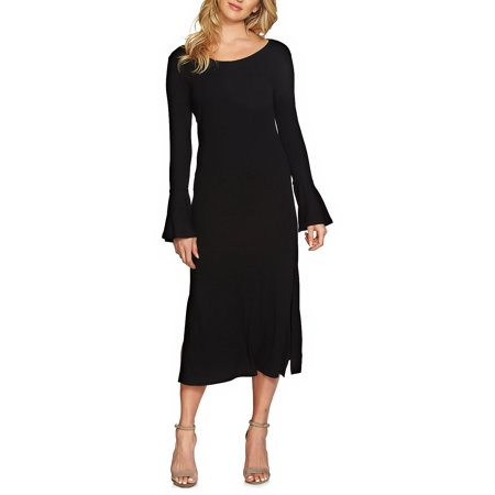 1.STATE Bell Sleeve Midi - Pewter Dress