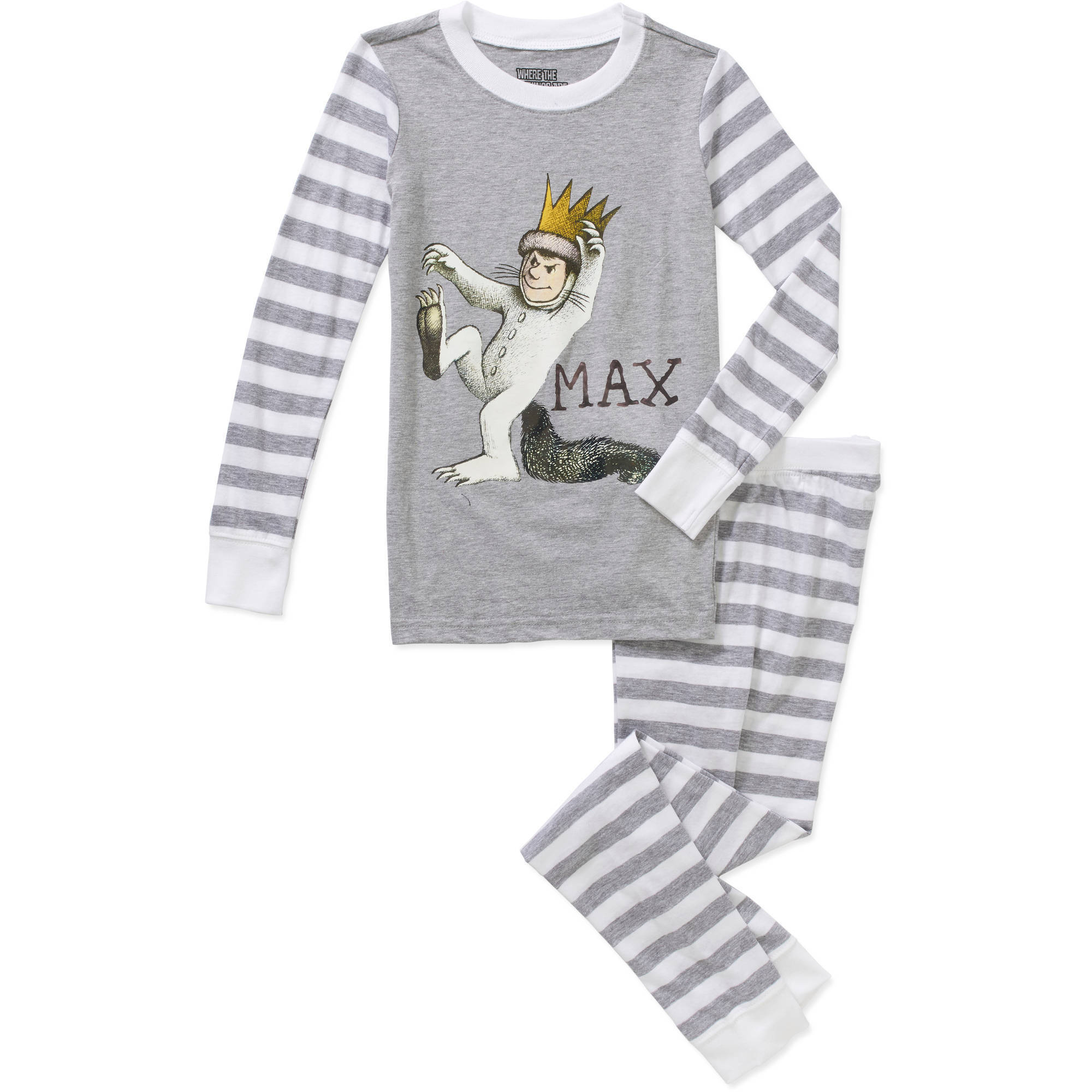 Boys' Licensed Cotton Tight Fit Pajama Sleepwear Set, Available in 5 Characters