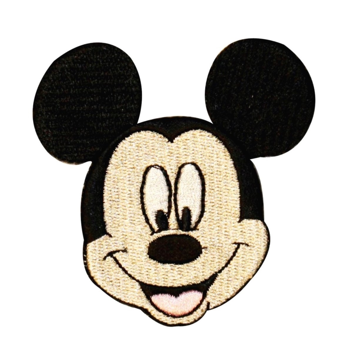 Mickey Mouse Face Patch Disney Mascot Character Craft Apparel Iron-On Applique