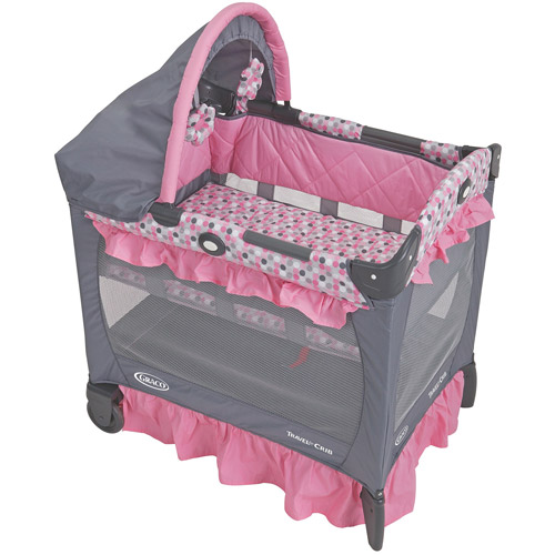 Graco - Travel Lite Portable Mini Playard with Baby Bassinet, Ally