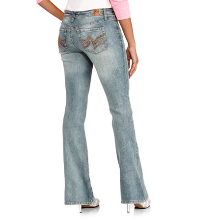 c9f01622050 L.e.i. - Juniors  Bridget Curvy Bootcut Jeans - Long - Walmart.com