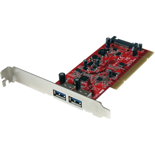StarTech 2-Port PCI SuperSpeed USB 3.0 Adapter Card with SATA Power