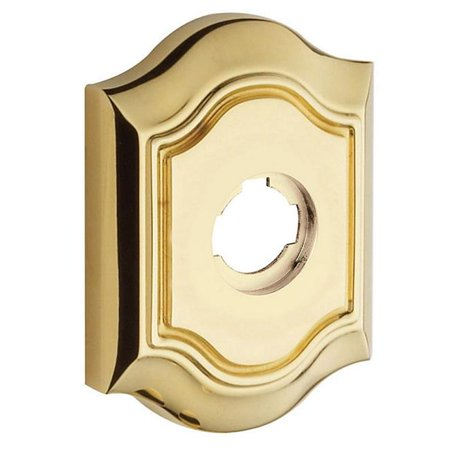 Baldwin R027003IDM Half Dummy Pair Bethpage Rosette - Lifetime Polished Brass