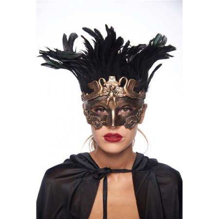Kayso FGM008GD Feathered Vintage Gold Angel & Swan Mask](Angel Mask)