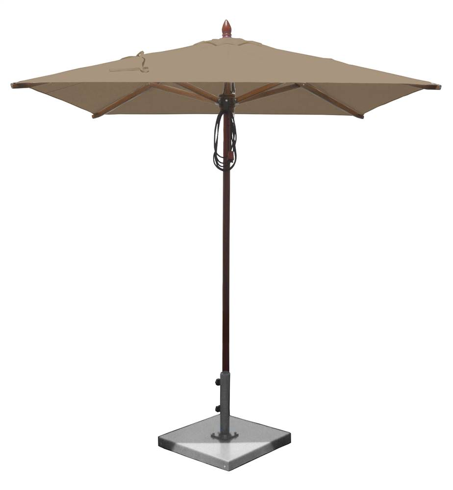Patio Umbrella W Square Fabric Top And African Mahogany Pole (Royal Blue)